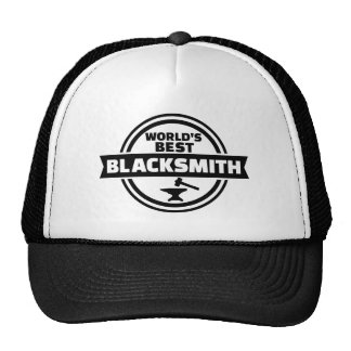 World's best blacksmith trucker hat