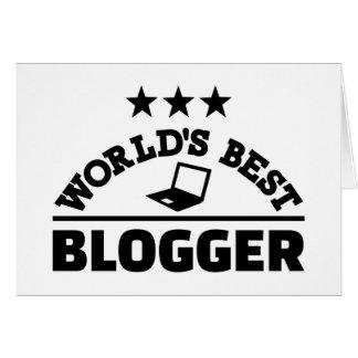 World's best blogger card
