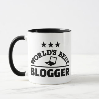 World's best blogger mug