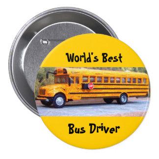 World s Best Bus Driver Pinback Buttons