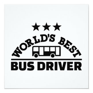World's best bus driver card