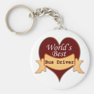 World s Best Bus Driver Key Chain