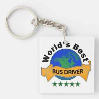 World s Best Bus Driver Acrylic Key Chain