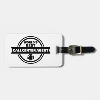 World's best call center agent bag tag