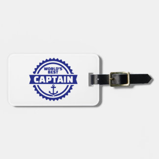 World's best captain luggage tag