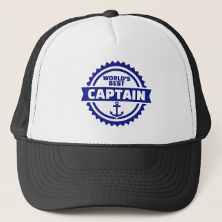 World's best captain trucker hat