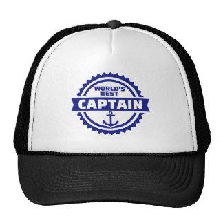 World's best captain trucker hat
