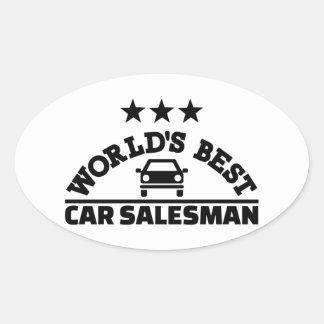 World's best car salesman oval sticker