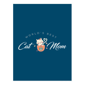 World's Best Cat Mom for Kitten Mothers Postcard