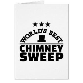 World's best chimney sweep card