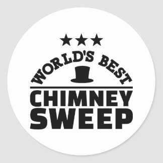 World's best chimney sweep classic round sticker