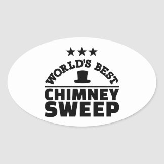 World's best chimney sweep oval sticker