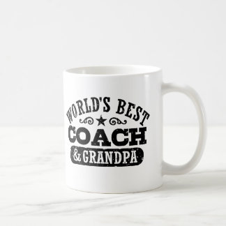 World's Best Coach and Grandpa Coffee Mug