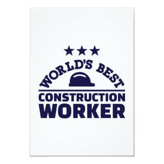 World's best construction worker card