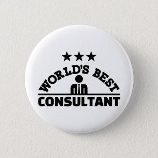 World's best consultant 2 inch round button