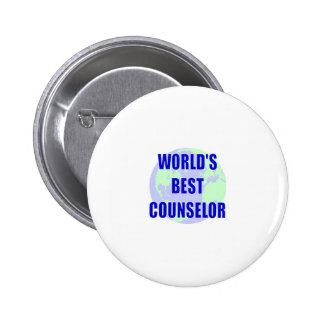 World s Best Counselor Pin