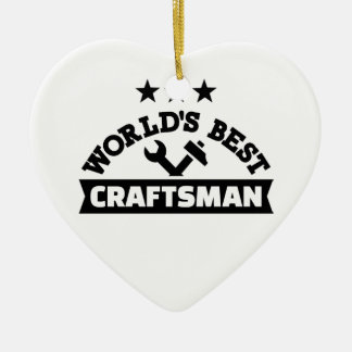 World's best craftsman ceramic heart ornament
