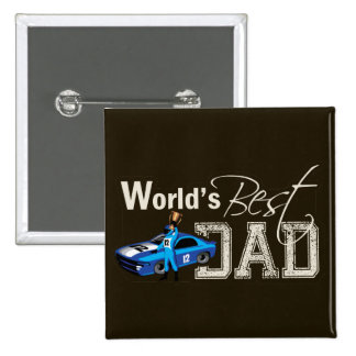 World s Best Dad Racing Button