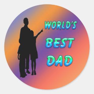 World s Best Dad Sticker