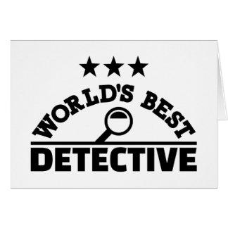 World's best detective card