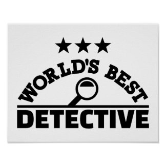 World's best detective poster
