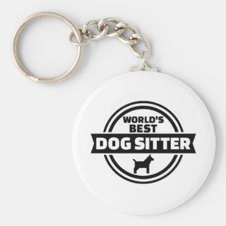 World's best dog sitter basic round button keychain