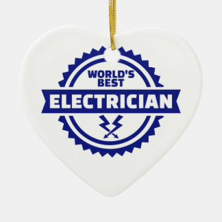 World's best electrician ceramic ornament