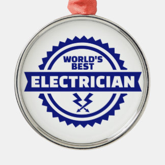 World's best electrician metal ornament