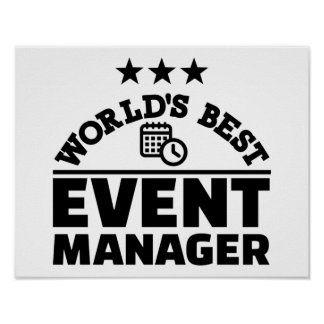 World's best event manager poster