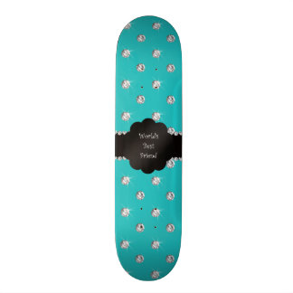 World s best friend turquoise diamonds skate deck