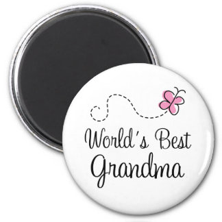 World s Best Grandma Butterfly Gift Refrigerator Magnet