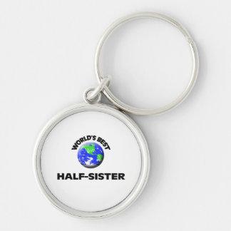World s Best Half-Sister Keychain