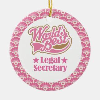 World's Best Legal Secretary Gift Ornament