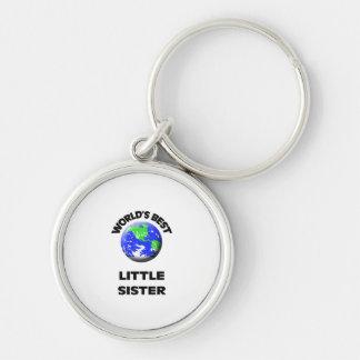 World s Best Little Sister Keychain