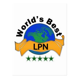 World s Best LPN Post Card