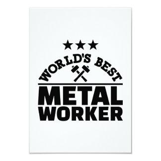 "World's best metal worker 3.5"" x 5"" invitation card"