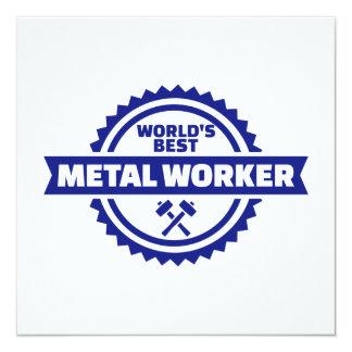 World's best metal worker card
