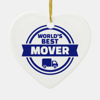 World's best mover ceramic ornament