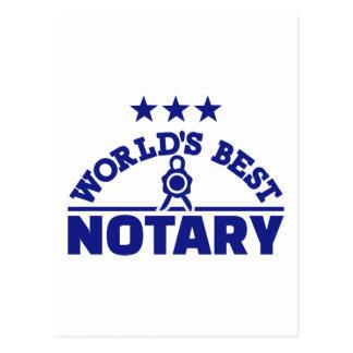 World's best notary postcard