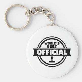 World's best official basic round button keychain