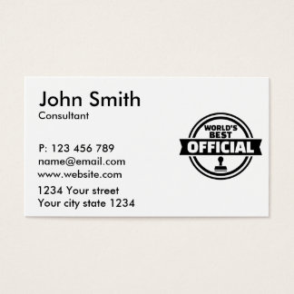 World's best official business card