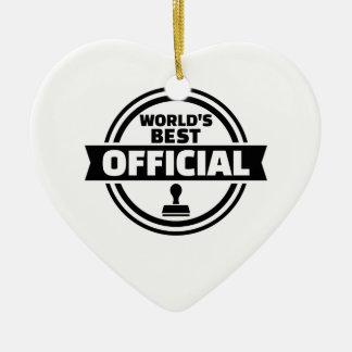 World's best official ceramic heart ornament