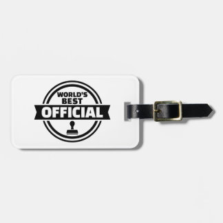 World's best official luggage tag