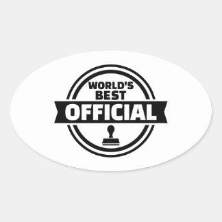 World's best official oval sticker