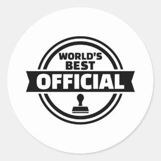 World's best official round sticker