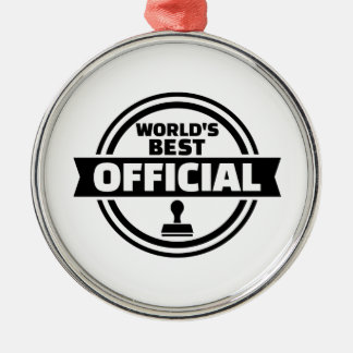 World's best official Silver-Colored round ornament