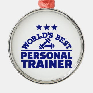 World's best personal trainer Silver-Colored round ornament