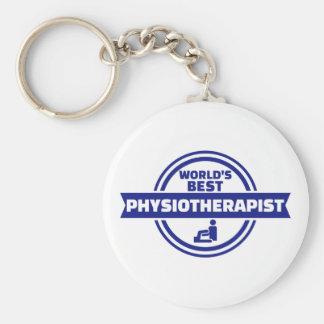 World's best physiotherapist basic round button keychain