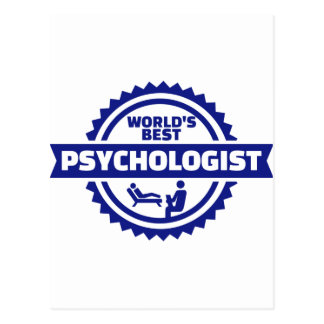 World's best psychologist postcard