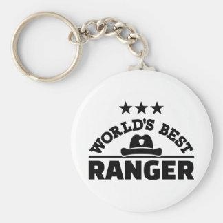 World's best ranger basic round button keychain